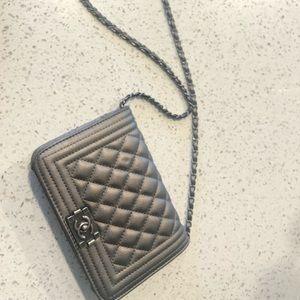 Handbags - fake Chanel clutch crossbody metallic
